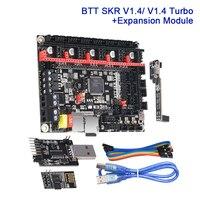 Bigtreetech skr v1.4 placa de controle v1.4 turbo com dcdc rgb wi fi módulo esp01s btt escritor 3d peças da impressora placa expansão uart