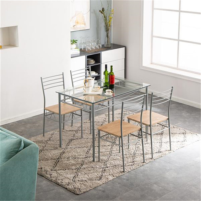 Glass Dining Table and Chairs  6