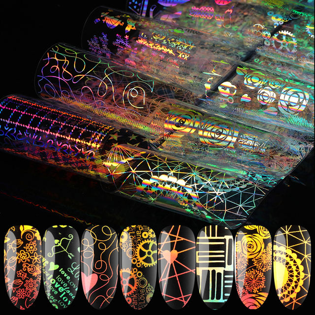 1/Roll 4*99cm Holographic Nail Foils