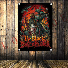 Rock 'n' Roll Band Tattoo Banner Cloth Art Retro Poster Tapestry Flag Mural Hanging Painting Party Music Festival Wall Decor(China)