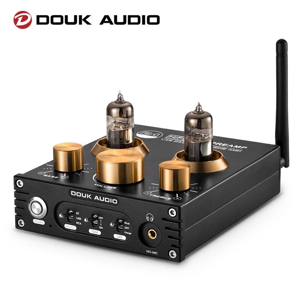 Douk Audio P1 HiFi вакуумный ламповый предусилитель Bluetooth 5,0 аудиоресивер USB DAC наушники Amp APTX