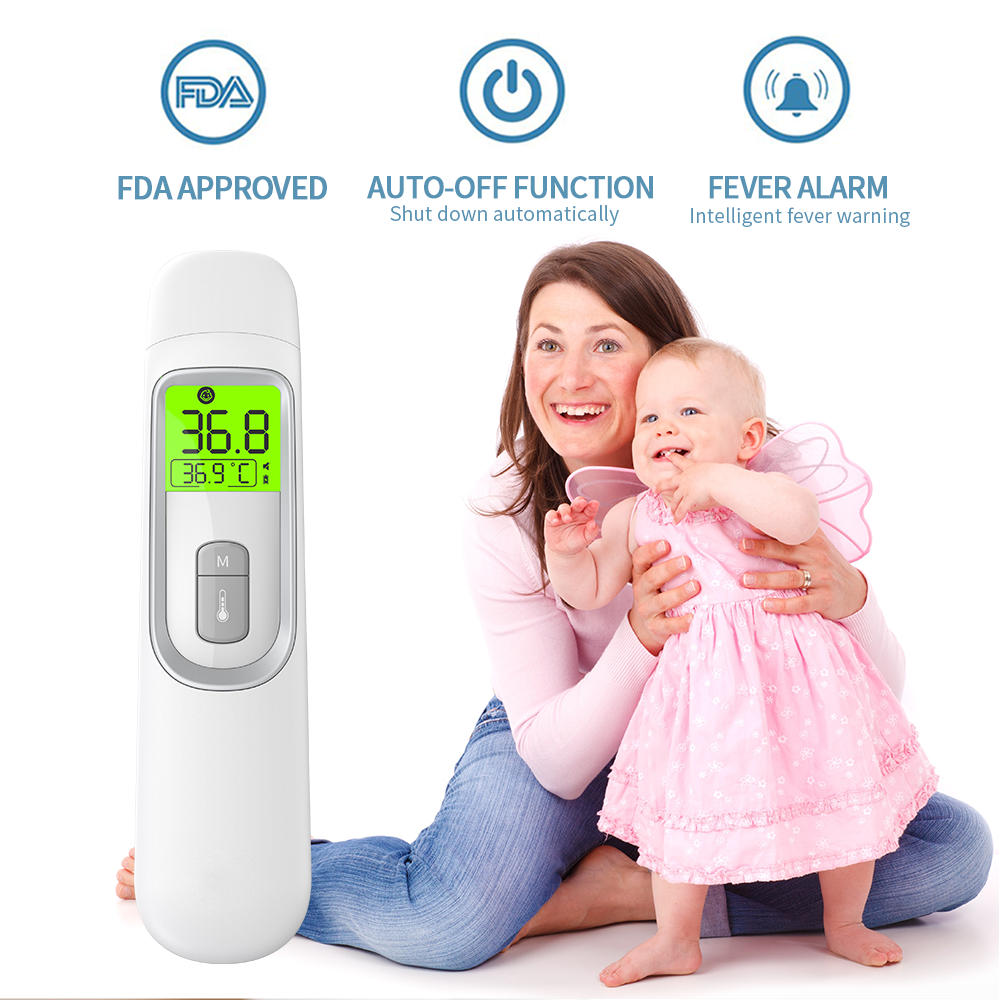 Fast ship in 24 hours infrared babies adults forehead ear body temperature measuring thermometer LCD display Celsius thermometer