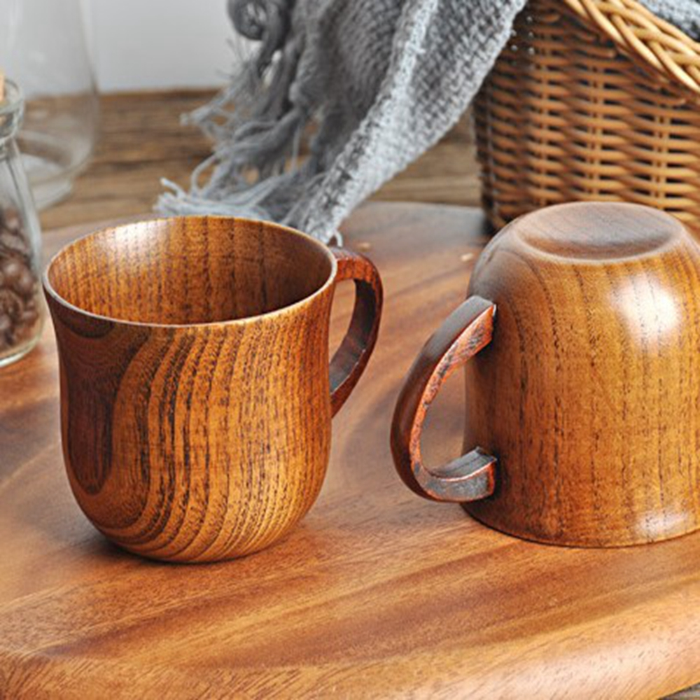 Wooden Cup Handmade Natural Wood Mug for Coffee Tea Beer Juice Milk Water