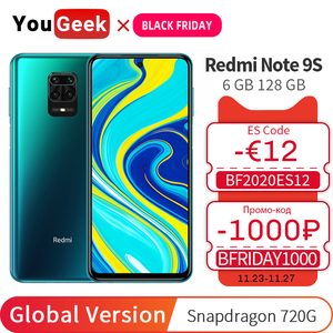 Global Version Xiaomi Redmi Note 9S 6GB 128GB Mobile Phone Snapdragon 720G Octa Core 48MP Four Cameras 5020mAh Battery Note 9 S