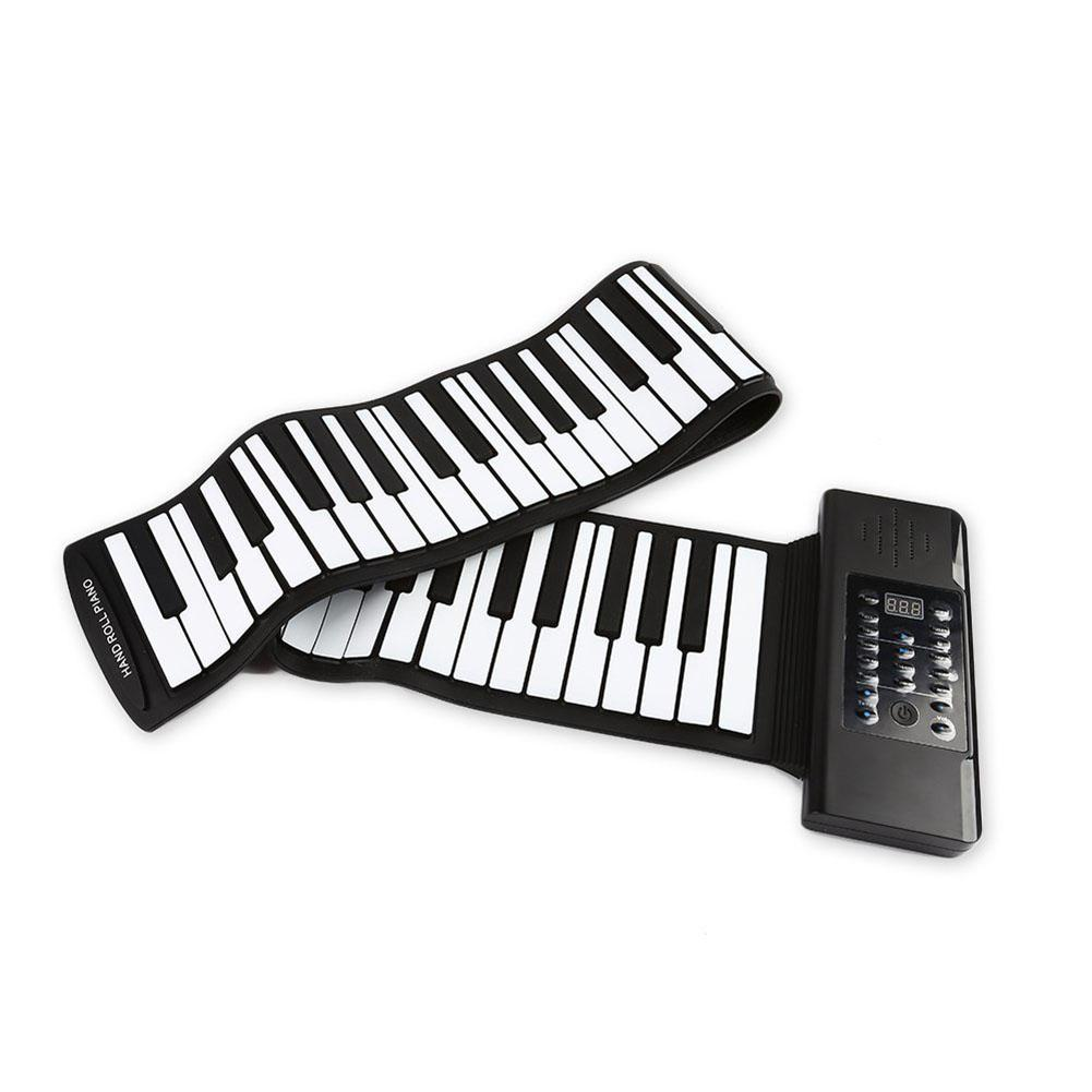 GloryStar 61 Keys 88 Keys Roll Up Piano Flexible Soft Electronic Digital Piano Roll Up Keyboard Piano Portable Piano|Video Game Consoles|   - title=