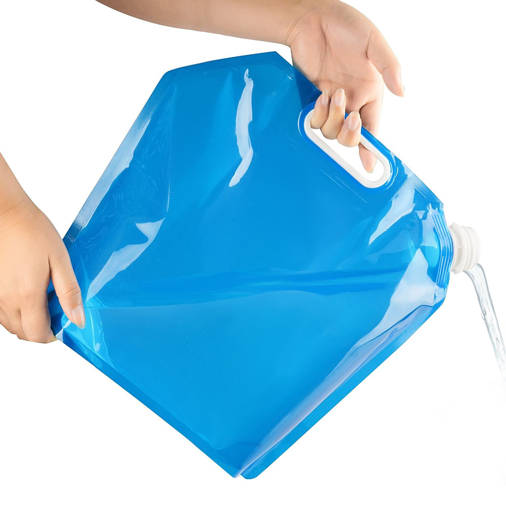 Outdoor Water Bag 5/10L High Capacity Folding Water Bag Canister Portable Drinking Camp Cooking Picnic BBQ Water Container
