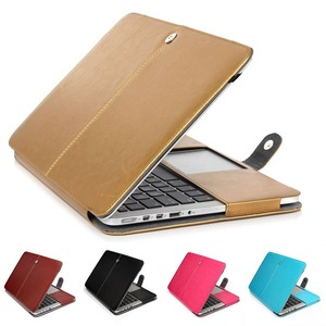 Basix PU Leather Bag Case For Apple MacBook Air 11 13 A1466/A1369 Book Folio Protect Sleeve Cover for New Air13 New Pro13 2018