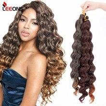 Leeons yeni Freetress derin dalga tığ saç siyah kadınlar için 18