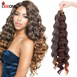 Leeons New Freetress Deep Wave Crochet Hair For Black Women 18
