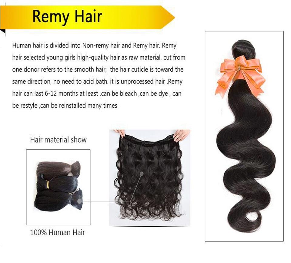 AliAfee Hair Brazilian Hair Weave Bundles Ombre Body Wave Bundles 1B/99J/#27/Burgundy/#2/#4/Colors Remy Human Hair Extension - 5
