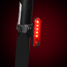 056 mountain bike riding equipment USB bicycle charging taillight night riding warning light two colors usb charging led bicycle light 5 light mode highlight waterproof warning bike light to send free usb cable suit for night riding