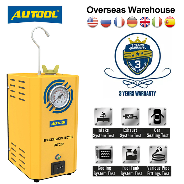 AUTOOL – détecteur de fuite de fumée Automobile SDT202, Original, générateur de fumée pour voiture