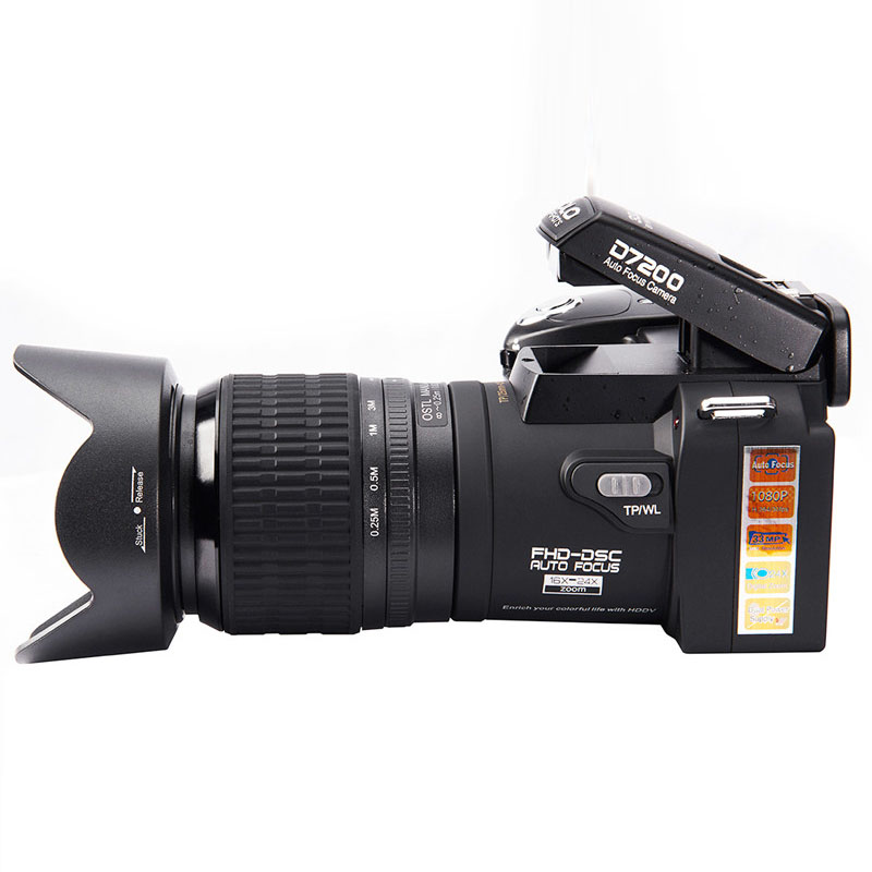 Protax D7200 Digital Video Camera 33MP Digital Professional  Camera 24X Optical Zoom  Camera plus LED headlamps lithium battery 4