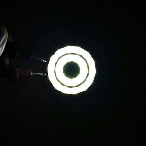 Image 5 - 3 فولت 4 فولت مستدير COB مصباح ليد 50 مللي متر قطر حلقة مزدوجة الباردة الأبيض LED مصباح 3.7 فولت 5 واط 7 واط COB رقاقة لمبة ل Work بها بنفسك العمل منزل ديكور أضواء