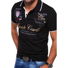 ZOGAA męska koszulka Polo z krótkim rękawem bawełna w stylu Casual z nadrukiem stałe koszulki z krótkim rękawem najwyższej jakości odzież męska letnie koszulki Polo