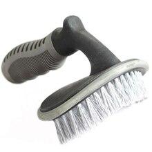 T em forma de escova de pneu de carro em forma de t roda cubo de carro escova de lavagem de carro aro de carro escova de limpeza de cera escova de limpeza de carro ferramenta de limpeza