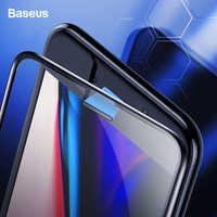 Protector de pantalla Baseus de 0,3mm a prueba de polvo de vidrio templado para iPhone 8 7 6 6s S Plus 7Plus 8Plus película de vidrio de protección completa