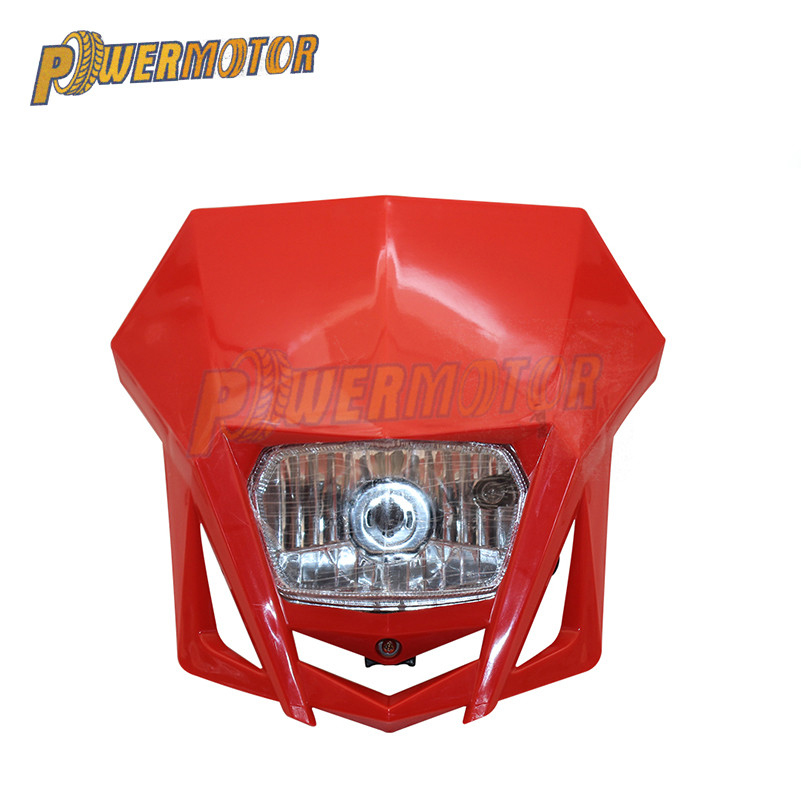 Motorcycle Headlight Fairing Universal Dual Sport Motorcycle Headlight Dirt Bike Head Lamp Motocross for HONDA XR CRF 150 230