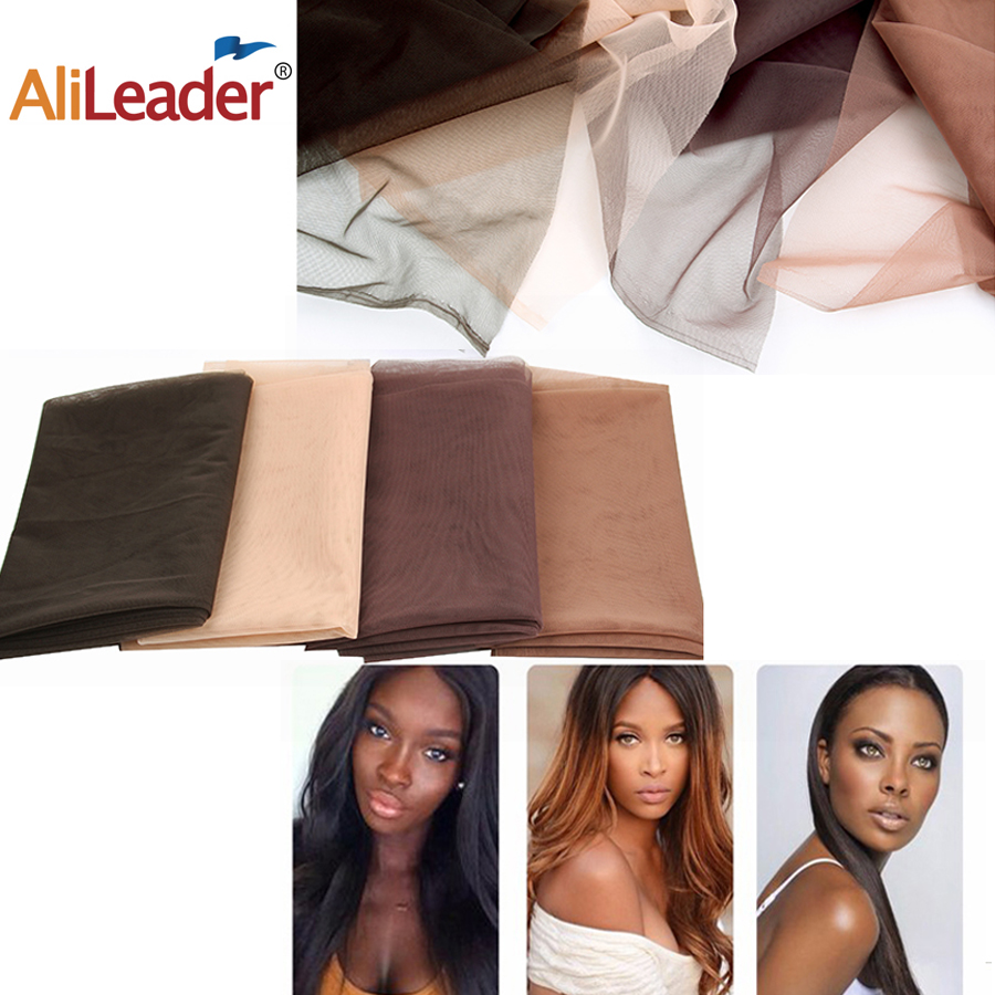 Alileader 46Cmx51Cm Swiss Lace Net Hairnet Closure Wig Making Tools Brown Lace Wig Cap Accessories Wig Caps Net For Making Wigs