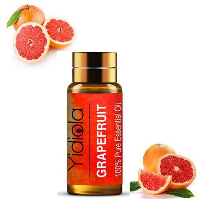 Yidiola 5ML Grapefruit Pure Essential Oils for Diffuser Aromatherapy Humidifier Purify air Massage Body Care Aroma Essential Oil