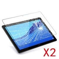 Cover protettiva per schermo in vetro temperato per Tablet 2 pezzi per Huawei MediaPad T3 10 schermo a prova di esplosione a copertura totale da 9.6 pollici
