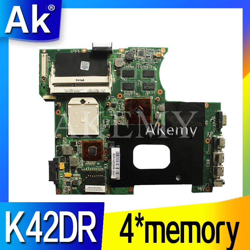 AK For ASUS K42DY A42D X42D K42DR K42D K42DE Motherboard With 4*memory Video Card