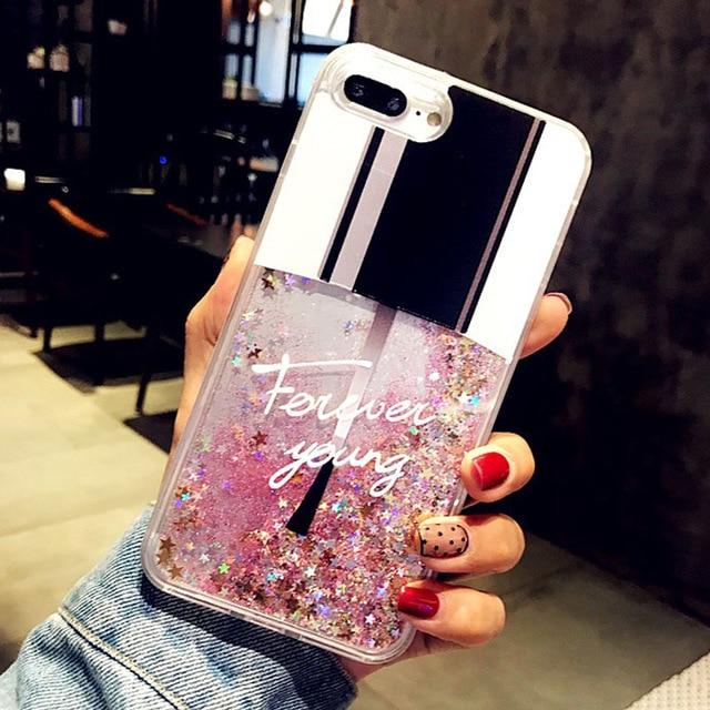 Quicksand Dynamic Liquid Nail Phone Case For Samsung Galaxy S10 S9 S8 S5 S6 S7 Edge Plus 5G S10E Note 10 Pro 9 8 5 4 3 TPU Cover