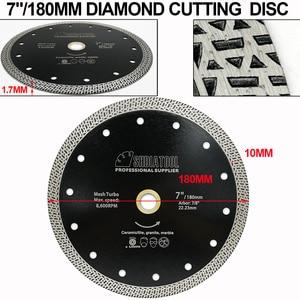 Image 2 - SHDIATOOL 1 шт., диаметр 180 мм/7 дюймов, горячепрессованный спеченный алмазный режущий диск, сетка, турбо алмазный пильный диск, гранит, мрамор, плитка, керамика