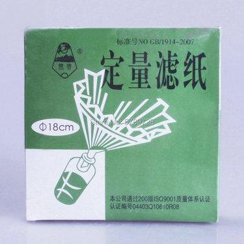 100 sztuk paczka DIA 18cm średnia prędkość ilościowych bibuła filtracyjna test laboratoryjny bibuła filtracyjna pojazdu do testów na oleju bibuła filtracyjna tanie i dobre opinie CN (pochodzenie) Lejek