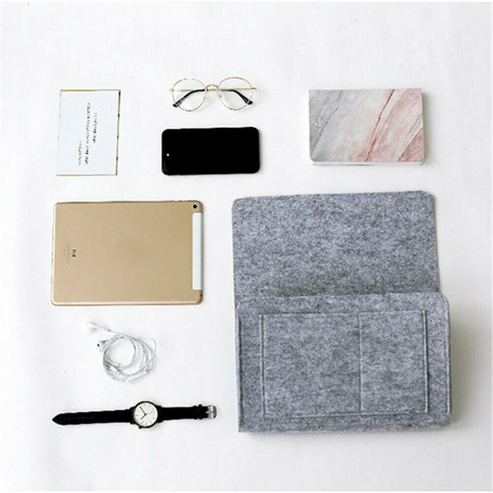 Felt Bedside Pocket Caddy Storage Organizer Bed Desk Bag Sofa TV Remote Holder 2020 Casual Solid Color