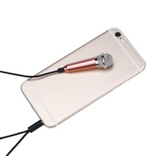 Mini Karaoke Condenser Wired 3.5mm Stereo Microphone Mic For Android Mobile Phone OUJ99