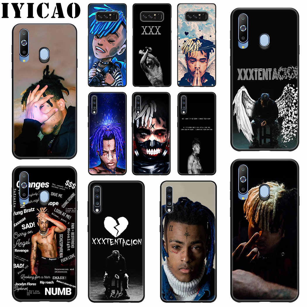 IYICAO XXXTentacion Rapper Soft Silicone Case for Samsung A70 A60 A50 A40 A30 A20 A10 M10 M20 M30 M40 Note 8 9 Phone Case