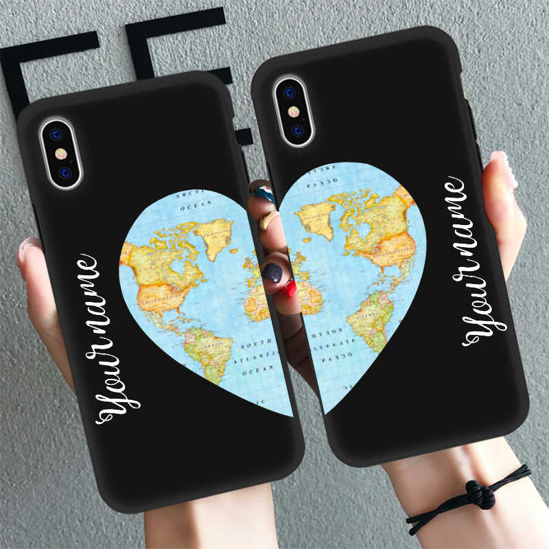 PERSONALISED TWO NAMES FOR COUPLES CLEAR 3 PHONE CASE FOR APPLE IPHONE 5 5S SE