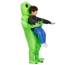 Переноска человека Складной Водонепроницаемый украшение в стиле унисекс надувной костюм косплей вспыхивающий мультфильм взрослых детей инопланетян вечерние Хэллоуин