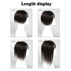 Image 5 - Houyan Vrouwen/Mannen 100% Echt Haar Met Een Pony Recht In Het Midden Sectie Echte Hoge Kwaliteit haaraccessoires Handgemaakte H