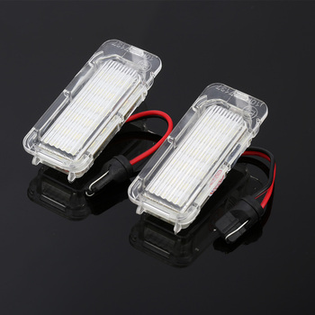 2PCS LED License Plate Light Car Truck License Number Plate Light For FORD Focus 3 C MAX S MAX Mondeo 4 Galaxy KUGA 7903 Fiesta 1