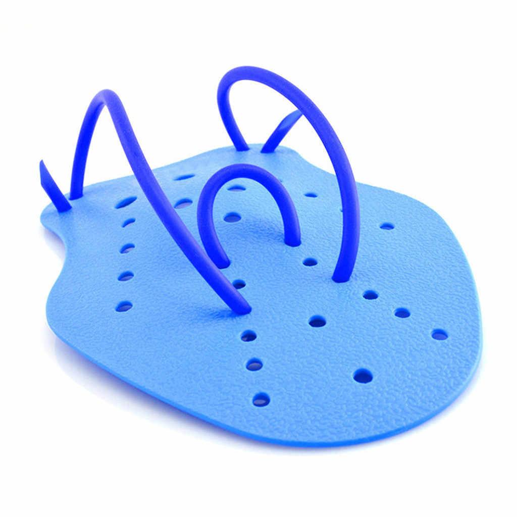 Unisex S/M/L Zwemmen Training Zwemmen Beroerte Korte Palm Hand Paddle Water Zwemvliezen Handschoenen Pvc Siliconen Voor swim Training 2 Pc Set