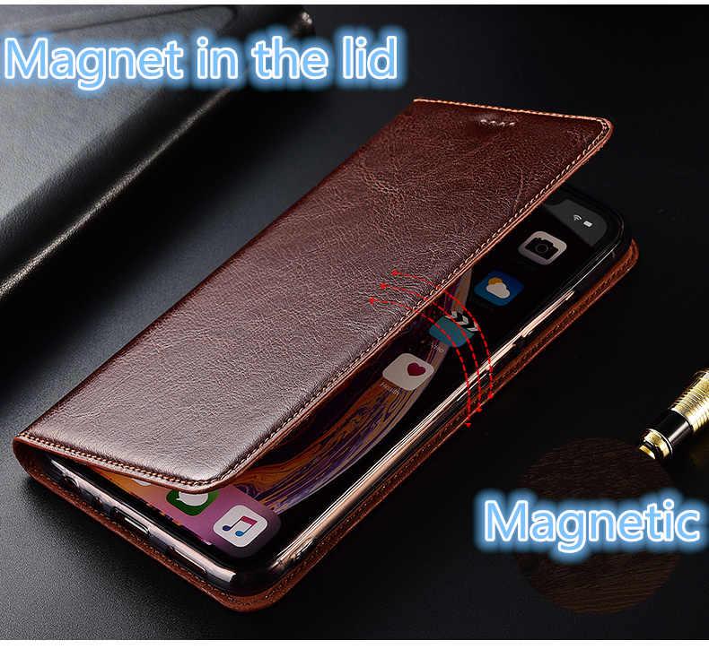 狂気の馬革磁気電話ケースはサムスンギャラクシー A10 A20 A30 A40 A50 A60 A70 A80 電話バッグ Funda