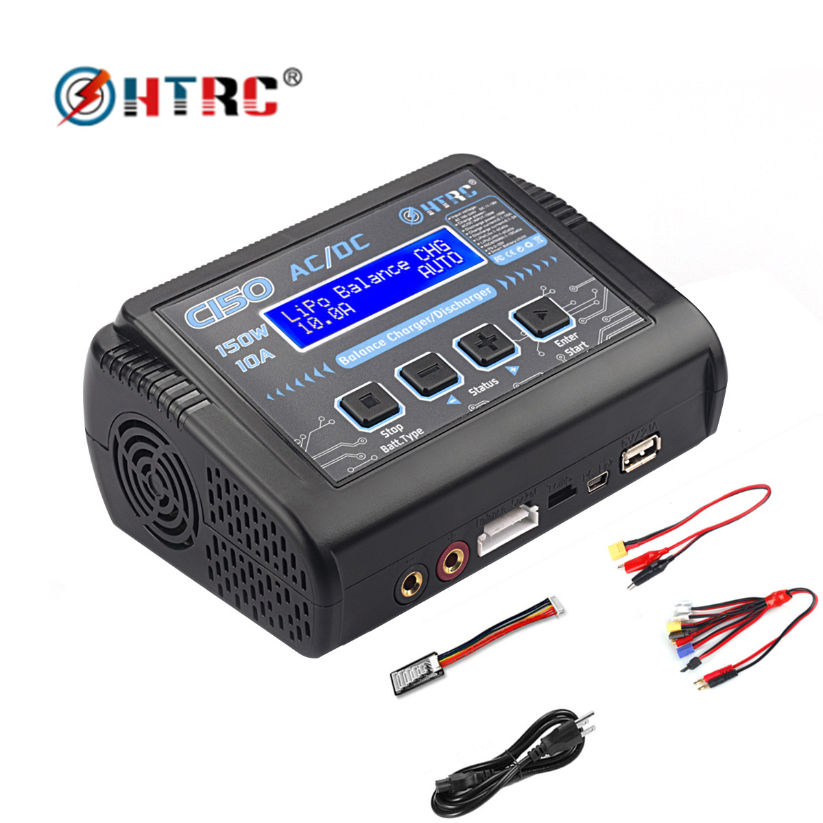 HTRC Lipo-Charger Rc-Battery Smart Nimh Nicd 150W C150 for Lihv Life-Lilon Pb Ac/Dc 10A title=