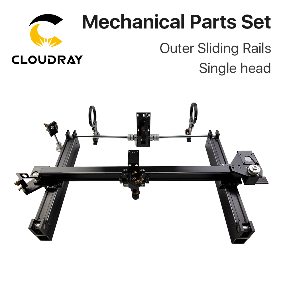 Mechanical Parts Set 600mm*400mm Single Head Laser Kits External Slide DIY CO2 Laser 6040 CO2 Laser Engraving Cutting Machine