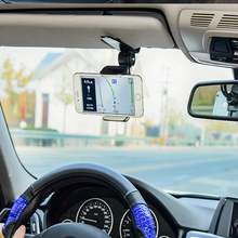 XMXCZKJ Universal 360 Car Clip Sun Visor Cell Phone Holder Mount Stand For Iphone11 GPS Adjustable Holder in Car Mobile Phone cheap Nein Nein Eigenschaften CN (Herkunft) Allgemeinhin mobile phone holder stand Auto Halter For iPhone Samsung Xiaomi Huawei THC for All 3 2-5 8 Inch Phone Etc