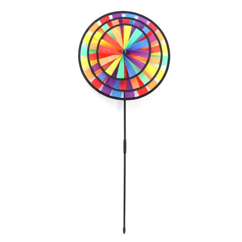 Rainbow Wind Spinner Colorful Windmill Cute Cartoon Animal Winnower Kids Toy   Q0KB