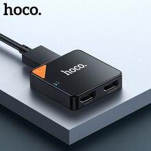 HOCO 4K 60Hz HDMI uyumlu Splitter anahtarı 1x 2/2x1 HDR HDMI uyumlu ses adaptörü HDMI Switcher 2 in 1 için PS4 TV kutusu