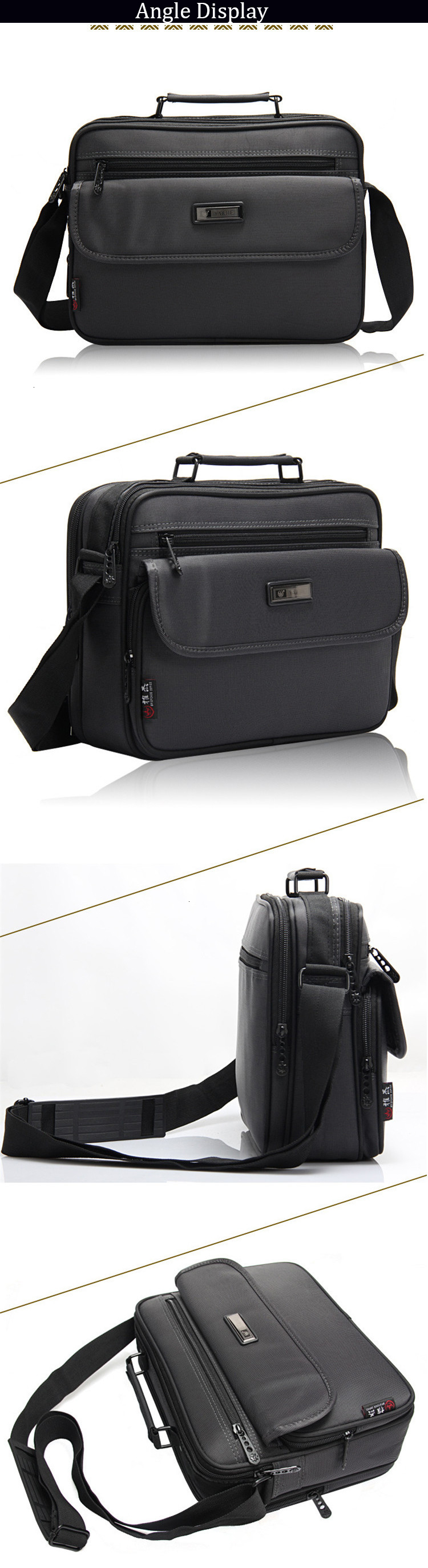 Hb61b436e610d450eb3183b1b5db6f26aY 2019 New Briefcases Of Sizes Men's Laptop Bag Top Quality Waterproof Men bags Business Package Shoulder Bag masculina briefcase