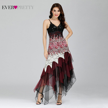 Elegant Cocktail Dresses Ever Pretty EP6212B Sexy V neck Black and White Lace Long Wedding Plus Size Party Dress vestido coctel