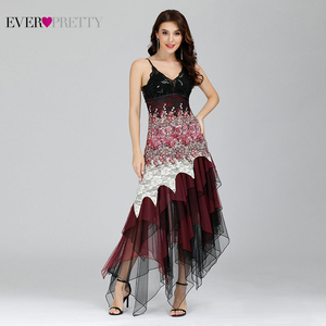 Image 1 - Elegant Cocktail Jurken Ever Pretty EP6212B Sexy V hals Zwart wit Kant Lange Bruiloft Plus Size Party Dress Vestido Coctel
