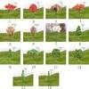 Plastic Mini Simulation Trees Kawaii Willow Sakura Mini Home Decoration Garden Microlandscape Miniatures Figurines 5