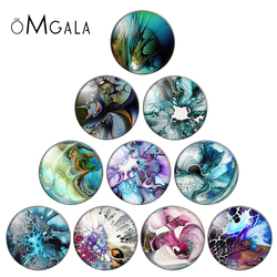 GICLEE FINE ART PRINT OF ORIGINAL FLUID ACRYLIC PAINTING 12mm/20mm/25mm Round photo glass cabochon demo flat back Making finding