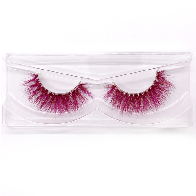 New 9D red mink color lashes wholesale natural long fluffy individual dramatic colorful false eyelashes Makeup Extension Tools 4