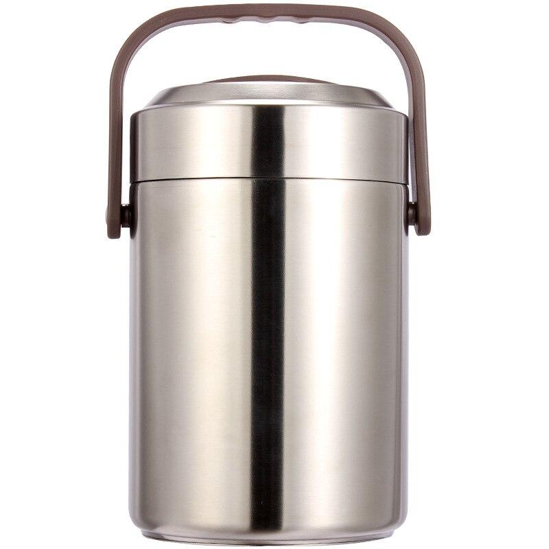 Haut!-garder au chaud boîte à déjeuner étanche en acier inoxydable Bento boîte en plein air Portable pique-nique école alimentaire conteneur boîte 2.6L